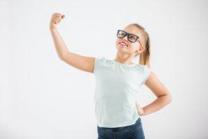 Smart superhero girl